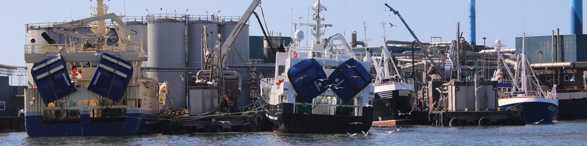 Fartøjer losser tobis